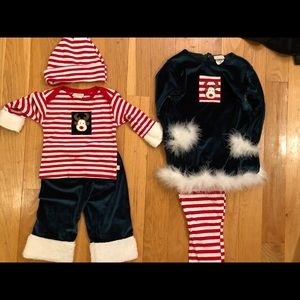 Other - Haute Baby- Sibling Christmas outfits.
